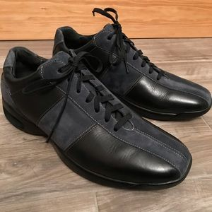 COLE HAAN Nike Air black leather & suede shoes